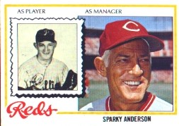 1978 Topps Baseball Cards      401     Sparky Anderson MG