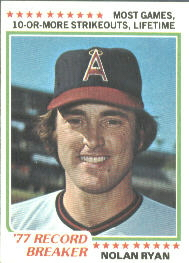 1978 Topps Baseball Cards      006       Nolan Ryan RB