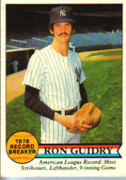 1979 Topps Baseball Cards      202     Ron Guidry RB