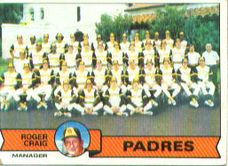 1979 Topps Baseball Cards      479     San Diego Padres CL/Roger Craig