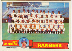 1979 Topps Baseball Cards      499     Texas Rangers CL/Pat Corrrales