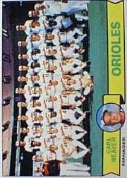 1979 Topps Baseball Cards      689     Baltimore Orioles CL/Earl Weaver