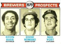 1979 Topps Baseball Cards      708     Kevin Bass/Eddie Romero/Ned Yost RC