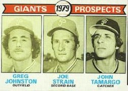 1979 Topps Baseball Cards      726     Greg Johnston/Joe Strain/John Tamargo RC