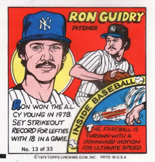 1979 Topps Comics       013      Ron Guidry