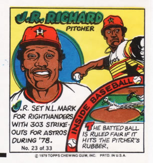 1979 Topps Comics       023      J.R. Richard