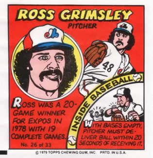 1979 Topps Comics       026      Ross Grimsley