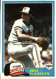 1981 Topps Baseball Cards      010      Mike Flanagan