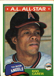 1981 Topps Baseball Cards      100     Rod Carew