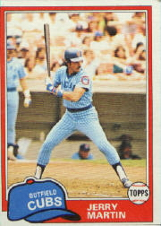 1981 Topps Baseball Cards      103     Jerry Martin
