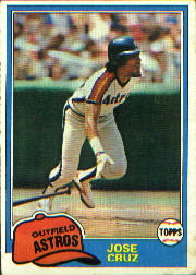 1981 Topps Baseball Cards      105     Jose Cruz