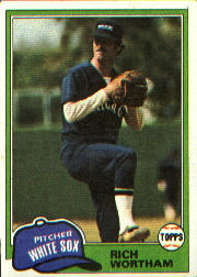 1981 Topps Baseball Cards      107     Rich Wortham
