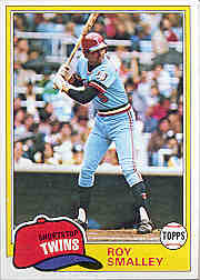 1981 Topps Baseball Cards      115     Roy Smalley