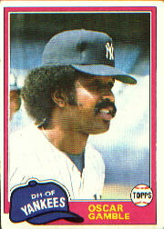 1981 Topps Baseball Cards      139     Oscar Gamble