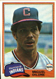 1981 Topps Baseball Cards      141     Miguel Dilone