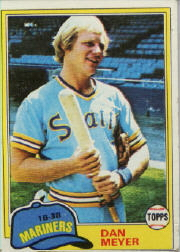 1981 Topps Baseball Cards      143     Dan Meyer
