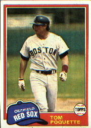 1981 Topps Baseball Cards      153     Tom Poquette