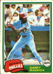 1981 Topps Baseball Cards      160     Garry Maddox