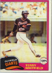 1981 Topps Baseball Cards      167     Terry Whitfield