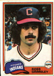 1981 Topps Baseball Cards      170     Ross Grimsley