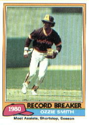 1981 Topps Baseball Cards      207     Ozzie Smith RB