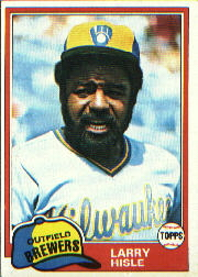 1981 Topps Baseball Cards      215     Larry Hisle