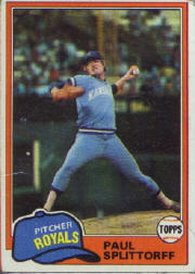 1981 Topps Baseball Cards      218     Paul Splittorff