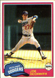 1981 Topps Baseball Cards      231     Joe Beckwith