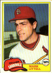 1981 Topps Baseball Cards      255     Mark Littell