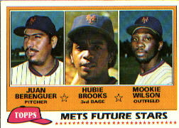 1981 Topps Baseball Cards      259    Juan Berenguer Mookie Wilson/Hubie Brooks RC