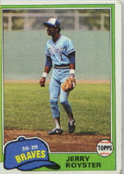 1981 Topps Baseball Cards      268     Jerry Royster