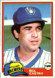 1981 Topps Baseball Cards      271     Bill Castro