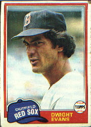 1981 Topps Baseball Cards      275     Dwight Evans