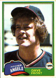 1981 Topps Baseball Cards      286     Dave Frost