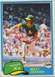 1981 Topps Baseball Cards      301     Matt Keough