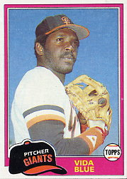 1981 Topps Baseball Cards      310     Vida Blue