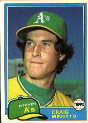 1981 Topps Baseball Cards      316     Craig Minetto