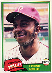 1981 Topps Baseball Cards      317     Lonnie Smith