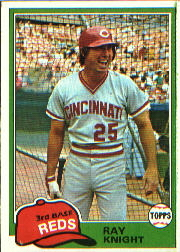 1981 Topps Baseball Cards      325     Ray Knight