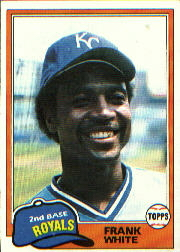 1981 Topps Baseball Cards      330     Frank White