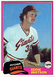 1981 Topps Baseball Cards      336     Eddie Whitson