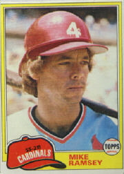 1981 Topps Baseball Cards      366     Mike Ramsey RC