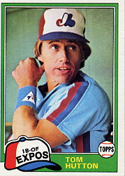 1981 Topps Baseball Cards      374     Tommy Hutton