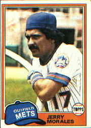 1981 Topps Baseball Cards      377     Jerry Morales