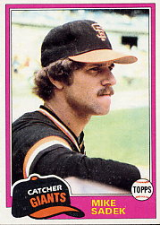 1981 Topps Baseball Cards      384     Mike Sadek