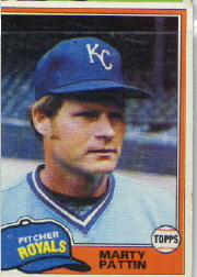 1981 Topps Baseball Cards      389     Marty Pattin