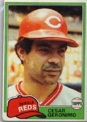 1981 Topps Baseball Cards      390     Cesar Geronimo