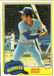 1981 Topps Baseball Cards      397     Julio Cruz