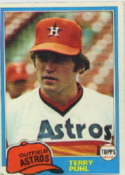 1981 Topps Baseball Cards      411     Terry Puhl