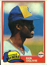 1981 Topps Baseball Cards      415     Ben Oglivie